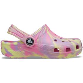 Crocs Classic Marbled Clogs Kids pink lemonade/multi